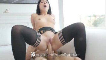 Amateur girl Adrienne in casting