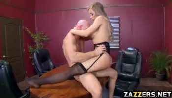 Busty Asian babe with big tits pounded hard by big white cock